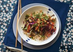 Rice Noodle Salad with Smoked Tofu and Herbs | Vegetarian Times (remove rice noodles)