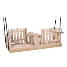 Beecham Swing Co. Beecham Swing Co. Flip-Ware 5ft. Wood Porch Swing, Brown, Wood.  Amazon.com $250.00.  Very clever idea... love this swing!