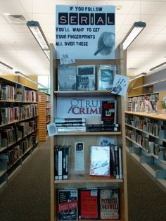 True Crime I Book Display I Calvert Library Prince Frederick I May 2016