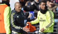 Zinedine Zidane takes Real Madrid training for the first time