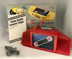 Vintage OSAKI Bicycle STEREO CASSETTE PLAYER Red Model BC-8 Walkman  | eBay Cassette, Bicycle, Ebay, Vintage, Model, Red, Auction, Packaging, Bicycle Kick