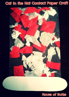 House of Burke: Dr Seuss Week: Cat in the Hat Contact Paper Craft