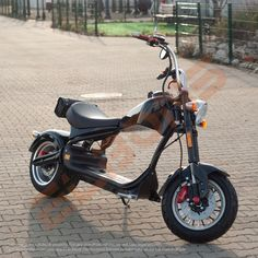 Scooterul electric ELBONS Chopper este ideal pentru oras si cei cu spirit nou de aventura. #elbons #scuter #scuterelectric #chopper Chopper, Electric Scooter, Spirit, Motorcycle, Vehicles, Electric Moped Scooter, Biking, Motorcycles, Vehicle