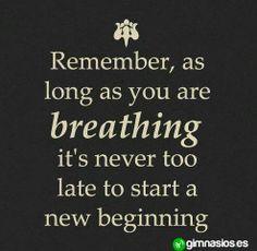 Recuerda que nunca es demasiado tarde para empezar de zero #nunca #demasiado #tarde #newstart #empezardezero #motivacion
