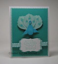 Peacock made with Stampin Up Build a Blossom Punch. Too Cute!!