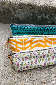 In Color Order: Canvas Pencil Pouches