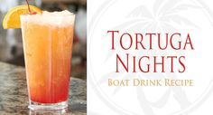 ** Tortuga Nights Drink Recipe ** - 1 oz Blue Chair Bay White Rum - 1 oz Amaretto - 1 oz Pineapple Juice - .5oz Coconut Cream - Splash of Grenadine - Dash of Angostura Bitters - Combine rum, amaretto, pineapple juice, coconut cream to mixing glass with ice. Shake well. Strain into glass with ice. Add splash of grenadine. Top with a dash of bitters. Garnish with cherry and pineapple.