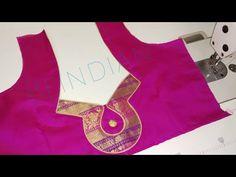 Very beautiful paithani blouse design cutting and stitching/back neck paithani saree blouse design cutting and stitching Patch Work Blouse Designs, Simple Blouse Designs, Stylish Blouse Design, Churidar Neck Designs, Saree Blouse Neck Designs, Dress Neck Designs, Sari Blouse, Traditional Blouse Designs, Designer Blouse Patterns