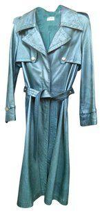 Celine Vintage Leather Trench Coat