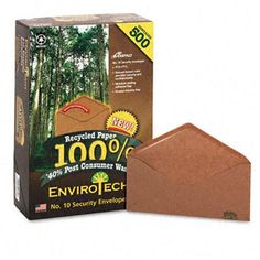 Ampad Envirotech Recycled Envelope V-Flap #10