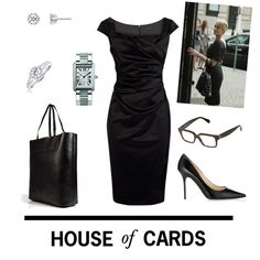 House of Cards - Claire Underwood by tsilyts on Polyvore featuring Coast, Jimmy Choo, Emilio Pucci, Cartier, CÉLINE, houseofcards and claireunderwood