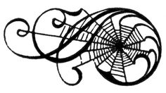 Vintage Halloween Clip Art - Awesome Spiderweb Scrolls - The Graphics Fairy
