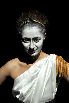 Classic Greek Makeup for the stage, ghost or spirit or Goddess