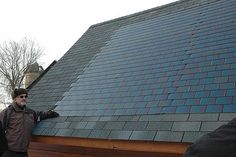"""Solar shingles -  They blend right in with your traditional shingles and don't require any special tools for installation."""