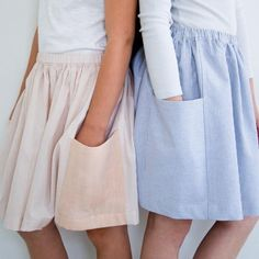 How to Make a Basic Gathered Skirt via Brit + Co