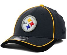 Pittsburgh Steelers New Era 39Thirty Anthracite Sideline M L Fitted Cap Hat   NewEra   4bcf282d2