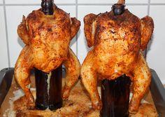 Sörösüvegen sült csirke recept foto Croatian Recipes, Hungarian Recipes, Hungarian Food, Meat Recipes, Chicken Recipes, Tandoori Chicken, Poultry, Bacon, Food And Drink