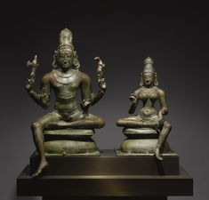 A Highly Important Group of Shiva and Parvati: Somaskandamurti<br>Copper alloy<br>South India, Chola Period   lot   Sotheby's