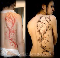 Tatuaggi Farfalle-Tatuaggi Caviglia-Tatuaggi decorativi-fine line tattoo-farfalle-tatuaggi sfumati-tatuaggi fiori-flower tattoo-tatuaggio caviglia-tatuaggi fianco femminile