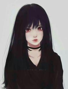 Illustration Art Girl Anime Colour New Ideas Manga Girl, Chica Anime Manga, Kawaii Anime Girl, Anime Art Girl, Anime Girls, Anime Style, Manga Japan, Art Anime Fille, Dark Anime