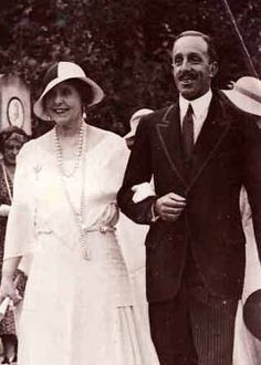 Queen Marie of Romania and her first cousin-in-law, King Alfonso VIII of Spain. Princess Alexandra, Princess Elizabeth, Princess Beatrice, Princess Victoria, Princess Mary, Queen Victoria, Romanian Royal Family, Greek Royal Family, Spanish Royal Family