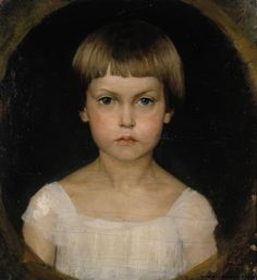 Albert Gustaf Aristides Edelfelt (Finnish painter), 1854 - Portrait of Berta Edelfelt, oil on canvas, s. Helene Schjerfbeck, Prinz Eugen, Oil Portrait, Portrait Paintings, Female Portrait, Mark Rothko, Family Portraits, Child Portraits, Figurative Art