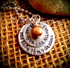Hand stamped personalized  'Thank you for by FarrarCreations, $32.00