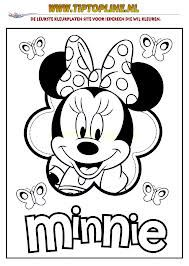 Kleurplaten Mickey Mouse Hoofd.Mimi Mickey Mous Kerst Kleurplaat