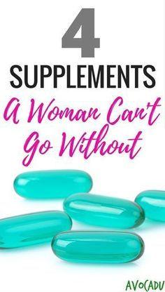 4 of the best supplements for women for weight loss and healthy living! Add these to your diet to help you lose weight fast! http://avocadu.com/supplements-women/ #vitaminD #L4L #vitaminA