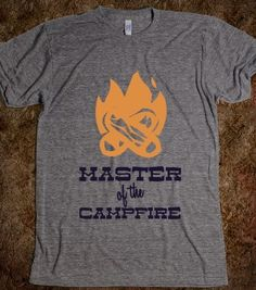 Master of the Campfire - Camp and Caravan - Skreened T-shirts, Organic Shirts, Hoodies, Kids Tees, Baby One-Pieces and Tote Bags