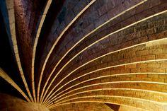 Arches in the attic of Casa Mila, or La Pedrera, designed by Antoni Gaudi
