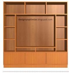 Diseño De Muebles Madera: Mueble de Madera Para TV de 40 Pulgadas   Centro E...