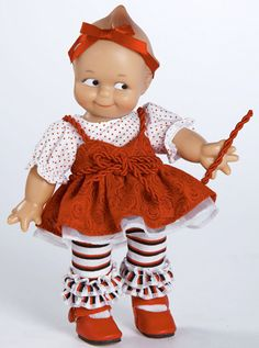 Red Licorice Kewpie from The Marie Osmond Doll Company
