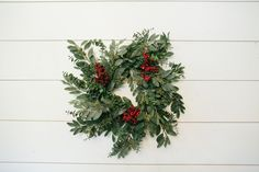 Red Berry Eucalyptus Wreath | The Magnolia Market
