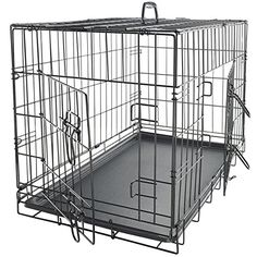 Pet Kennel Cat Dog Folding Steel Crate Animal Playpen Wire Metal Cage 48\