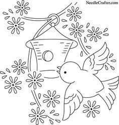 Bluebird and Birdhouse