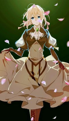 I Want my ★ ★ Collection ♡ Violet Evergarden art Anime Shojo, Anime Chibi, Kawaii Anime, Anime Art, Art Violet, Violet Evergarden Anime, Violet Evergarden Wallpaper, Violet Evergreen, Violet Garden