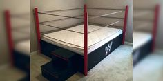 A wrestling ring bed would be a great addition to the spare room Wwe Bedroom, Kids Bedroom, Bedroom Ideas, Kids Rooms, Boy Bedrooms, Bed Ideas, Master Bedroom, Bedroom Decor, Chambre Wwe