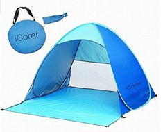 Sun Shelter Tent, Kapas Outdoor Automatic Pop Up Instant Portable Outdoors Quick Cabana Beach Tent Sun Shelter -- Check this awesome product by going to the link at the image. Beach Shade Tent, Baby Beach Tent, Pop Up Beach Tent, Beach Cabana, Beach Canopy, Backyard Canopy, Diy Canopy, Canopy Outdoor, Canopy Tent