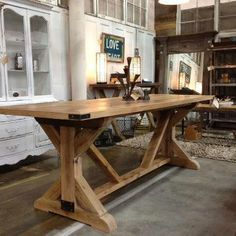 Reclaimed Dining Table by FarmhouseandCo on Etsy, $2550.00