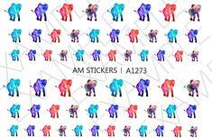 36 Galaxy Elephants Nail Decal | Etsy
