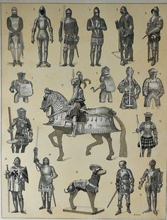 Armor from the ages.                                                                                                                                                                                 More