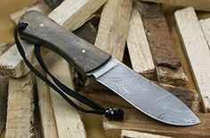 """Hunting- Knife King """"Walt Jr."""" Damascus Handmade Hunting Knife. Comes with a sheath. ** Find out more about the great product at the image link."""