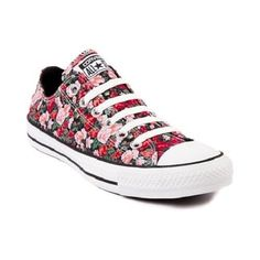 fd0e5b448a50 NEW Converse All Star Lo FLORAL Chucks Chuck Taylor Black Red Print Camo 6  7 8 9