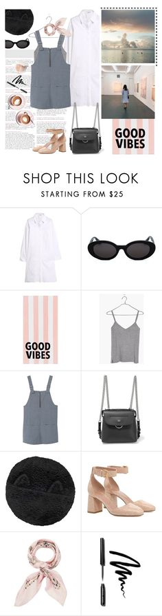 """""""your vibe attracts your tribe"""" by emyemoemu ❤ liked on Polyvore featuring DKNY, Mon Cheri, PBteen, Madewell, MANGO, Fendi, Maison Michel, RED Valentino, Manipuri and Bobbi Brown Cosmetics"""