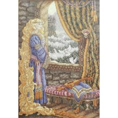 Teresa Wentzler RAPUNZEL Cross Stitch Kit Fantasy Fairy Tale by NeedleLittleTherapy on Etsy Just Cross Stitch, Cross Stitch Kits, Crewel Embroidery Kits, Vintage Cross Stitches, Winter Photos, Perfect Match, Rapunzel, Fairy Tales, Cool Designs