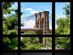 Window View, Special Series, the Brooklyn Bridge View, Manhattan, New York City, United States Photographic Print by Philippe Hugonnard - at AllPosters.com.au