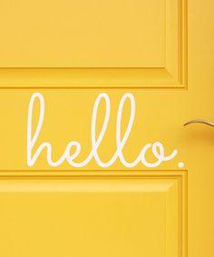 'Hello' Vinyl Door Decal