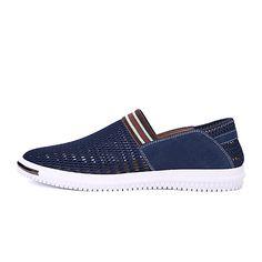 24e6e0cf350 Hombre-Tacón Plano-Confort Suelas con luz-Zapatos de taco bajo y Slip
