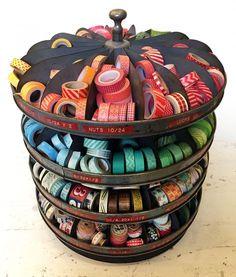 """Washi Tape Crafts"" by Amy Anderson Washi Tape Storage, Washi Tape Crafts, Washi Tapes, Diy Crafts, Masking Tape, Duct Tape, Scrapbook Storage, Studio Organization, Craft Room Storage"